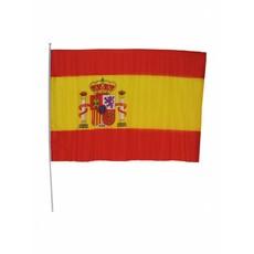 Spaanse vlag op stok 60x90cm