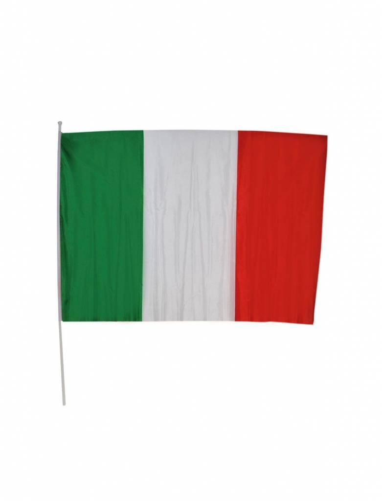 Italiaanse vlag op stok 30x45cm