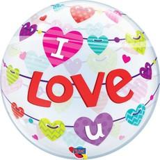 Helium ballon I love u 56cm