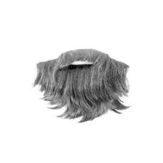 Dwergen baardje met snor grijs