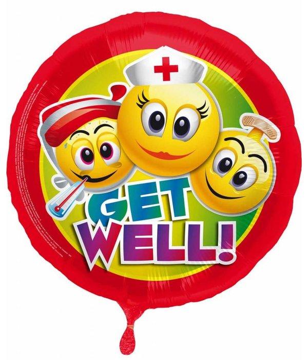 Get Well Soon Smiley Folieballon