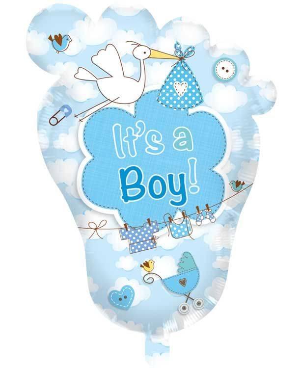 Babyvoetje It's a Boy! geboorteballoneballon