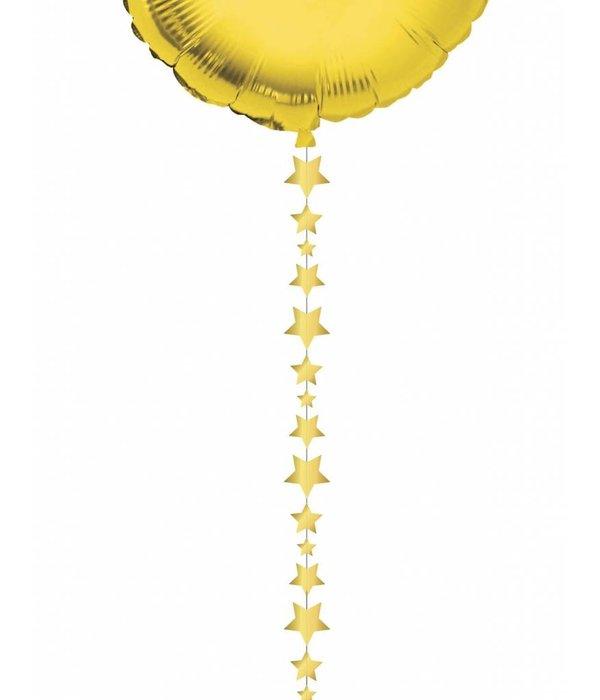 Ballonlint sterretjes goud