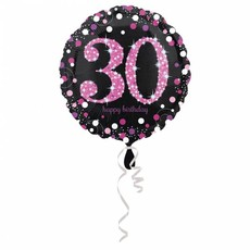 FolieBallon 30 jaar happy birthday 43cm