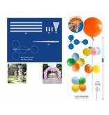 Ballonnenpilaar met pin 140cm