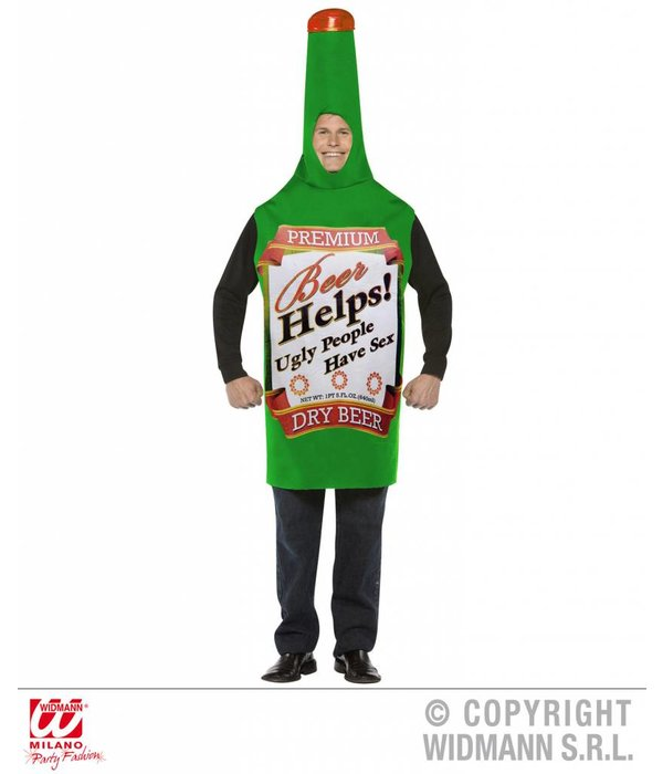 Bierfles outfit Carnaval