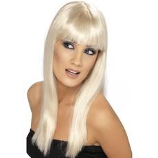 Glamourama pruik blond steil