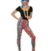 80's Legging neon luipaard print