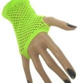 Nethandschoen kort vingerloos fluor groen