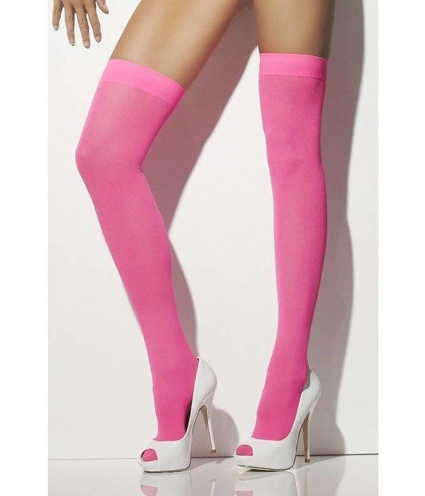 Kousen neon pink