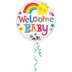 Welcome Baby helium ballon 43cm