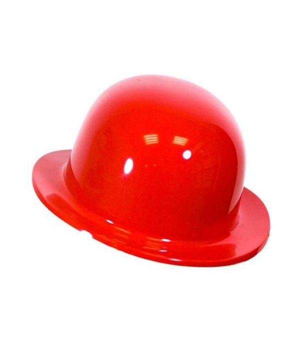 Bolhoed rood plastic kindermaat