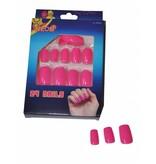Nagels fluor roze