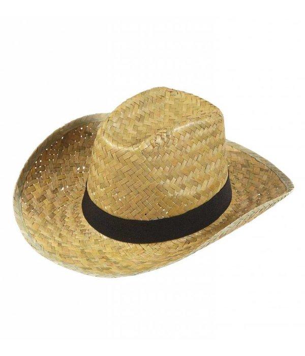 Texas hoed met zwarte band