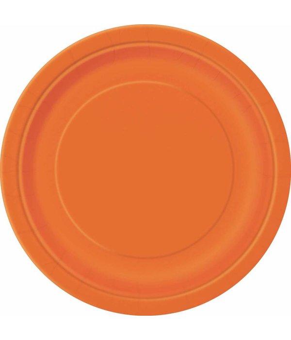 Oranje Feestborden 23cm