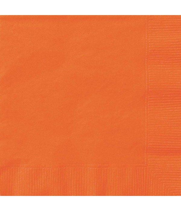 Oranje servetten 20 stuks