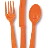 18 stuks oranje bestek assorti