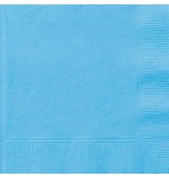 Lichtblauwe servetten 20 stuks