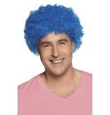 Pruik Pop Blauw Eco