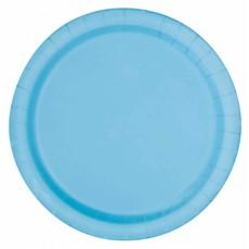 Lichtblauwe feestborden 23cm
