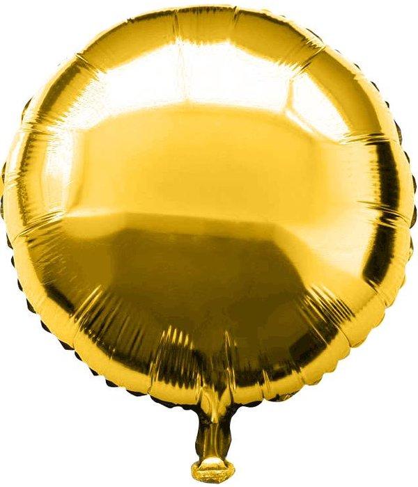 Folieballon rond goud - 46 cm