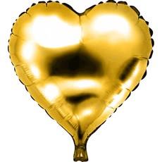 Folieballon hart goud 46 x 49 cm