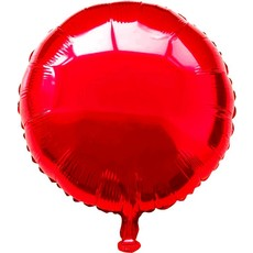 Folieballon rond rood - 46 cm
