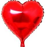 Folie ballon hart rood 46 x 49 cm
