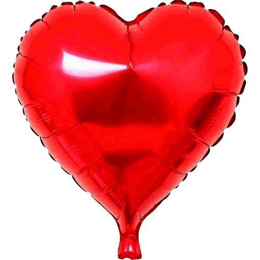 Folieballon hart rood - 45 cm