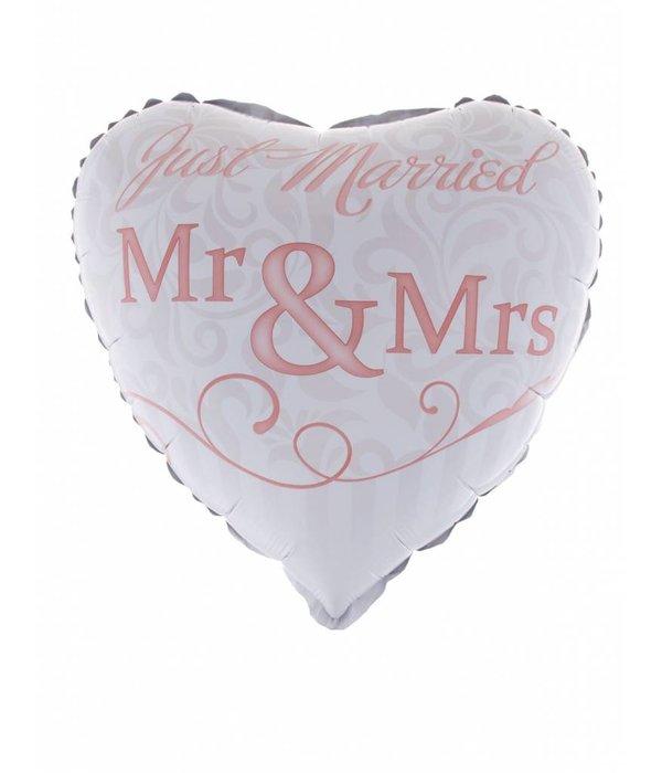 Folieballon Huwelijk Mr & Mrs 46cm