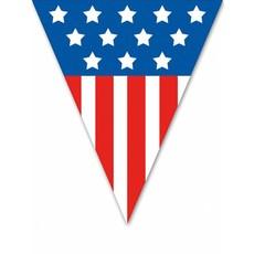 Vlaggenlijn 5 meter 10 vlaggen USA