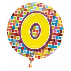 Verjaardags folieballon 0 jaar