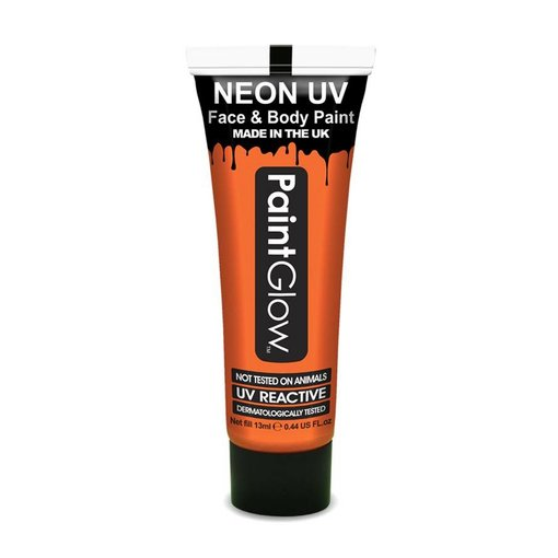 Neon Face & Body paint oranje UV Glow in dark 10ml
