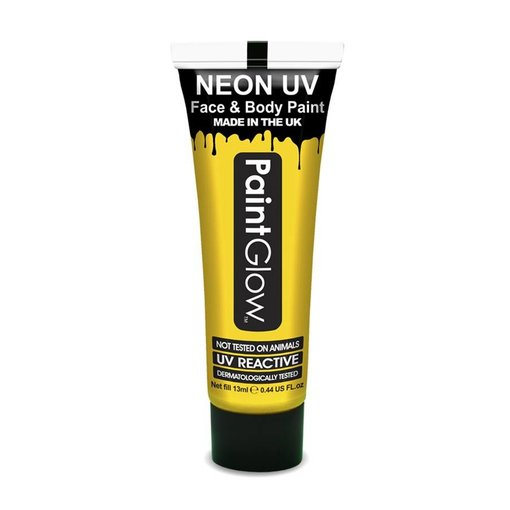 Neon Face & Body paint geel UV G.I.D 10ml