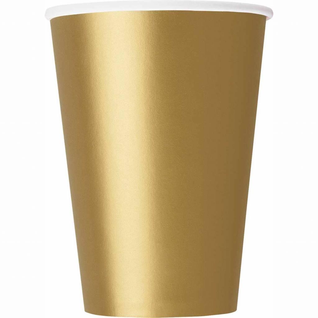 Gouden bekers karton - 14 stuks