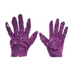 Handschoenen Paars Pailletten