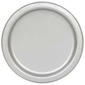 Zilveren feestborden 16 stuks