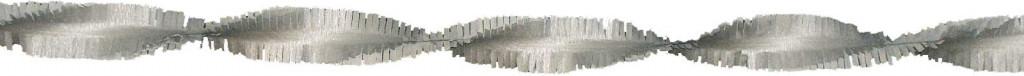 Crepe papier slinger zilver 6 meter