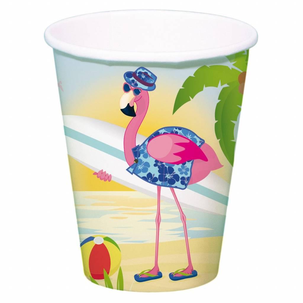 Flamingo Bekers 350ml - 8 stuks