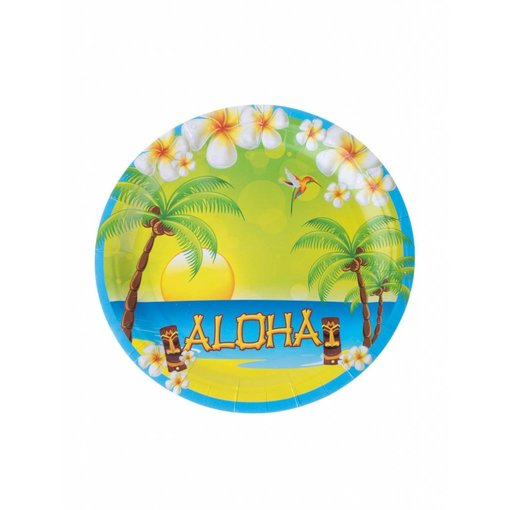 Aloha borden 8 stuks