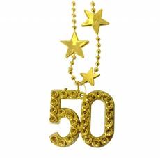 Goudkleurige ketting 50 jaar