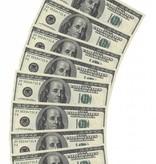 Servetten 100 Dollar Biljet 10 Stuks
