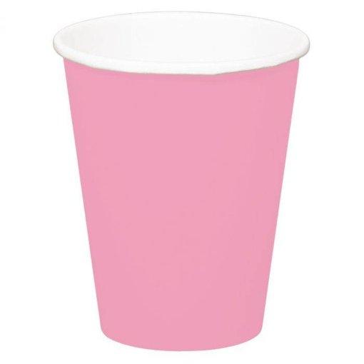 Bekers baby roze - 8 stuks