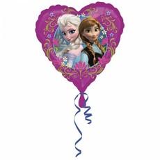 Folieballon Frozen Anne & Elsa Hart - 43 cm