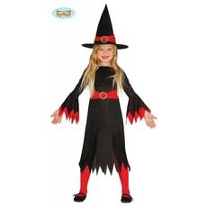 Heksje zwart/rood kind