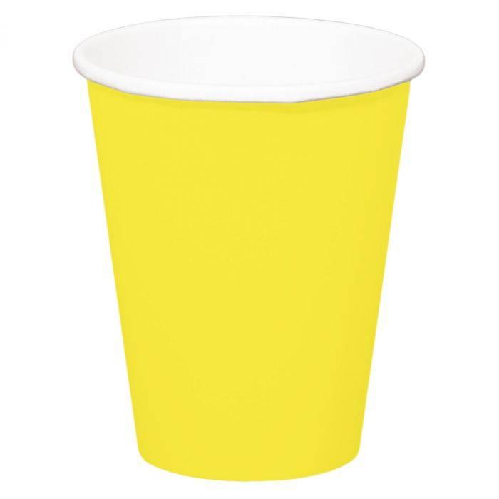 Bekers geel 350ml - 8 stuks
