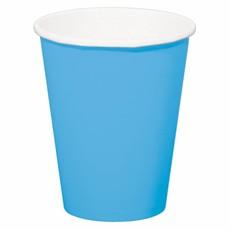 Bekers azuur blauw - 8 stuks