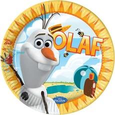 Olaf frozen borden - 8 stuks (23 cm)