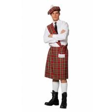 Schots Kostuum Man Rood 3-Delig