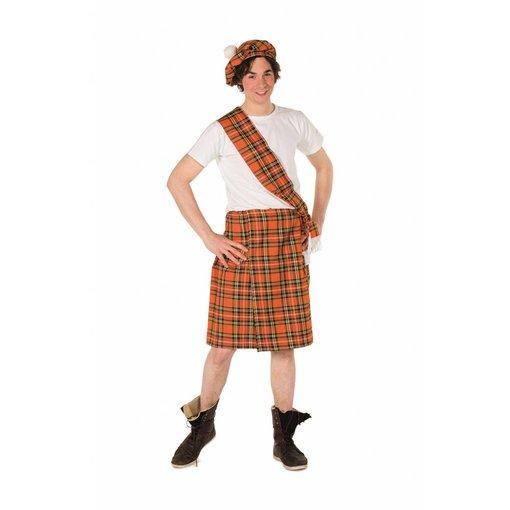 Schots Kostuum Man Oranje 3-Delig